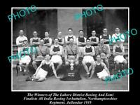OLD HISTORIC MILITARY PHOTO OF NORTHAMPTONSHIRE REGIMENT BOXING CHAMPS 1935