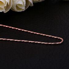 Damenhalskette Schlangenkette gedreht 45cm Schmuck pl. mit Roségold