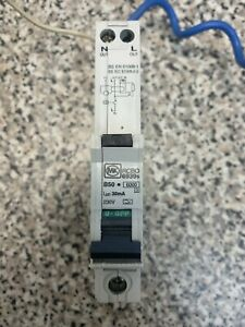 MK RCBO 50 Amp  Type B Single Pole 50A Circuit Breaker 6939S