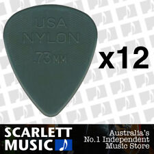 12 x Jim Dunlop Nylon Standard Greys .73mm Guitar Picks Plectrums 0.73 Grey