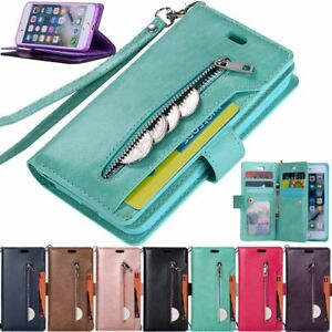 For iPhone 12 11 Pro Max XR 6s 7 8 SE Wallet Card Holder Flip Leather Case Cover