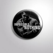 "MUHAMMAD ALI BOXER Cassius Marcellus Clay C - Pinbacks Badge Button 2 1/4"" 58mm"