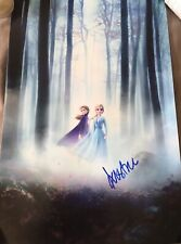 "KRISTEN BELL SIGNED AUTOGRAPH ""FROZEN 2"" HUGE 12x18 NEW MOVIE POSTER PHOTO COA"