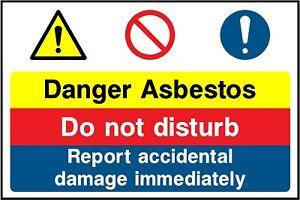 danger asbestos multi sign