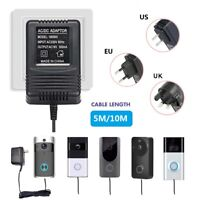 5M/10M Power Supply Charging Adapter Charger for Video Ring Doorbell Transformer
