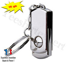 Mini Clé USB de 16 GO SILVER PLIABLE - Format porte clef usb flash drive 16gb