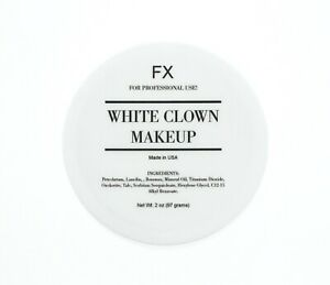 White Clown Makeup - 2oz - For Professional Use