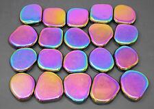 1/2 lb LARGE MAGNETIC Rainbow Hematite Tumbled Stone: Crystal Shiny Magnet 8 oz
