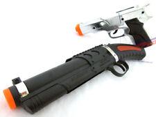2x Toy Guns Military Detective Silver 9MM Pistol Cap Gun & Toy Sawed-off Shotgun