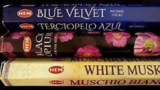 BLUE Velvet Black Opium White Musk 60 HEM Incense Stick 3 Scent Sampler Gift Set