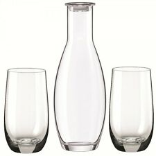 Rona - Homestyle Cool Polar 3 Piece Drink Set, Decanter and Drinking Glasses