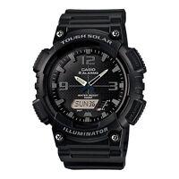 Casio Gents Tough Solar Black Analogue Combi AQ-S810W-1A2VEF Watch Brand New