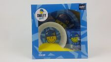 Zak Designs Smiley World Kids Plate/Bowl/Mug Set. Xmas Stocking Filler/Birthday