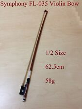 Symphony Fl-035 Half Size 1/2 Violin Bow W/real Horse Hair Ebony Frog