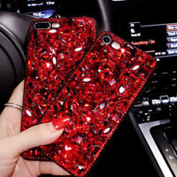 Vogue Girl 3D Bling Crystal Diamond Phone Case For iPhone 11 Pro Samsung Note 10