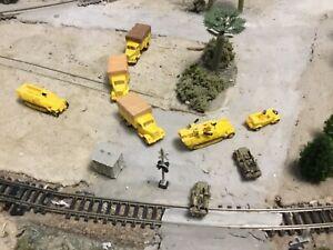 N scale WW 2 era military army Desert Patrol convoy attack Set 3D Printed