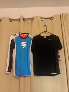 Lot Of 2 Shirts 1 Fox Racing Shift Large 1 Troy Lee Designs XL Youth Sizes