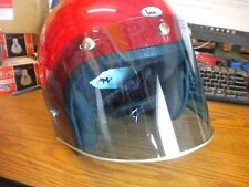 NOS Vintage 5 Snap Blue Tinted w Silver Trim Helmet Shield Visor USA Bell Buco