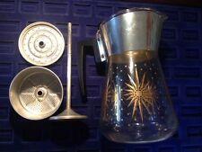 VTG Atomic Kitchen Douglas Flameproof Starburst Perculator Coffee Pot Glass