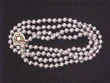 "Vintage Necklace-Majorca-Pearl-single strand-vintage new-20""-grey pearl-8mm-@"