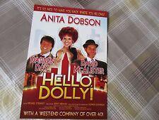 HELLO Dolly inc Darren DAY & Anita DOBSON 2008 Original BIRMINGHAM Theatre Flyer