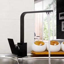 Black Single Handle Bath Basin Sink Cold/Hot Mixer Tap Kitchen Bathroom Faucet