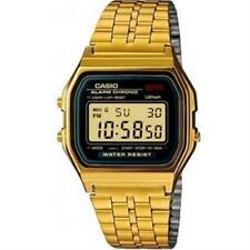 Casio Digital Casual Watch E-data-bank Gold Mens A159WGEA-1EF