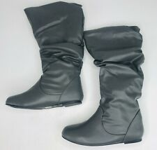 Journee Collection JAYNE Wide Calf Slouch Riding Boots Womens Size US 8 Gray