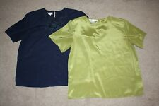 Ladies Blouses, Lot of 2 - Navy and Olive