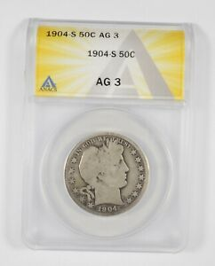 AG3 1904-S Barber Half Dollar - Graded ANACS *661