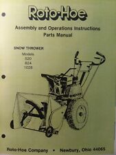 Bobcat Roto Hoe Walk Behind Snow Thrower Blower 520 824 1028 Owner Ampparts Manual
