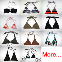 Bikini Top Triangle Tie Halter Neck Bandeau Bather swimwear swimsuit swimmer M