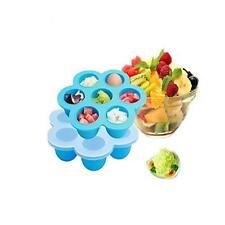 1 Pc Silicone Baby Food Storage Trays Reusable Homemade Freezer Pan Containers B