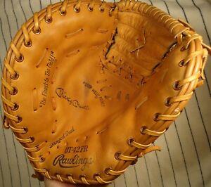 Very nice rare 1970's Mickey Mantle Rawlings OT42FR baseball 1st base mitt/glove