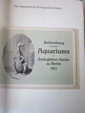 Berlin Archiv Edition N 1062 Das Auarium in Zoologischen Garten 1913 Broschüre