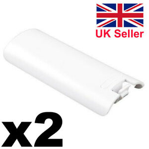 2x Replacement Battery Covers Back Case for Nintendo Wii Remote Controller White