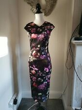 New With Tags Ted Baker Size 2 Shadow flora Bodycon Dress Stunning rrp£159.00