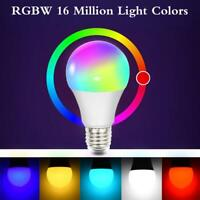 LED Smart Glühbirne Licht E27 RGB+CW Birne WiFi Lampe Für Alexa Google Home DE