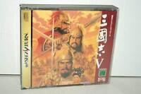 SANGOKUSHI V GIOCO USATO BUONO STATO SEGA SATURN EDIZIONE JAPAN NTSC/J VBC 38974