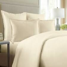 Wamsutta 620 Thread Egyptian Cotton Ivory Cream Standard Pillow Sham, New