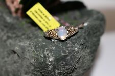 Ethiopian Welo Opal 14k YG Platinum/Sterling Silver Ring Solitaire Size 8 NWT
