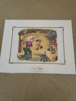 NEW Disney Parks The Disney Story Book Collection Pinocchio Deluxe Print 14 x18