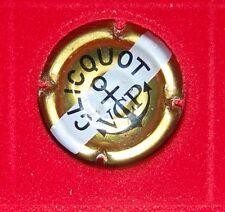1 Plaque de muselet de champagne Veuve Clicquot or barre blanche