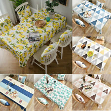 Tablecloth Fabric Waterproof Rectangular Coffee Dining Table Cloth Cover Kitchen