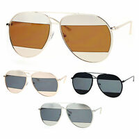 SA106 Unisex Cropped Lens Unique Aviator Sunglasses