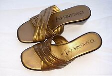 Damiani's Gold Womens Shoes Made In Italy Slide Sandal All Man Made Sz 7 Ladies