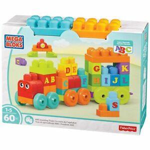 Mega Bloks ABC-Lernzug 60 Bausteine für Kleinkinder Bauklötze mit Buchstaben Neu