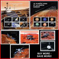 GUINEA 1999 SPACE & ASTRONOMY = MARS CONQUEST + 3 S/S + 2 M/S MNH CV$54.00