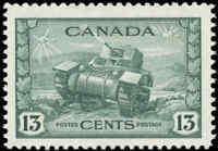 1942 Canada Mint NH F-VF Scott #258 13c KGVI War Stamp