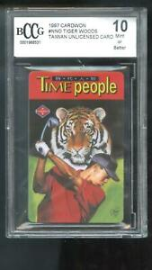 1997 Cardwon Promo Taiwan Tiger Woods Time People ROOKIE Card BCCG 10 Graded